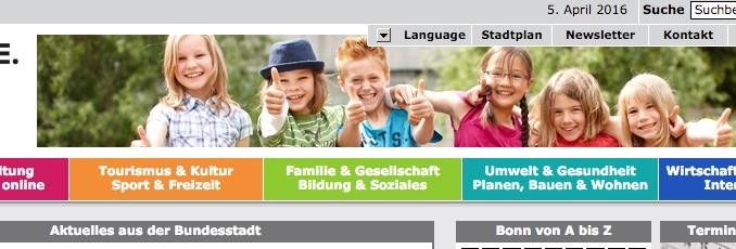 Die offizielle Internetseite der Stadt Bonn