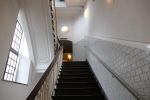 treppenaufgang zum turm im michel in hamburg