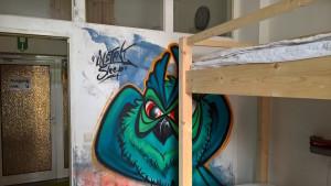 grafitti im zimmer instant sleep