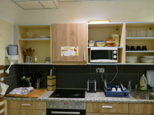 gästeküche im wombats the lounge