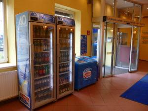 getränkeautomat in der lobby