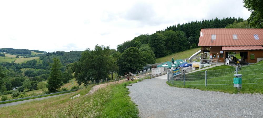 eingang sommerrodelbahn wald-michelbach