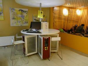 computerecke im hostel