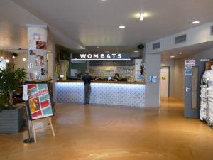 empfang eingang im wombats hostel naschmarkt wien