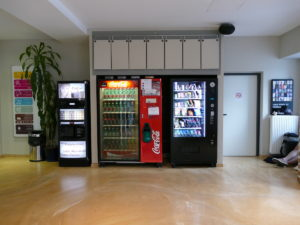 getraenkeautomatin in der lobby