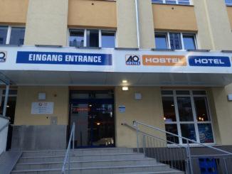 ao wien hauptbahnhof hostel eingang
