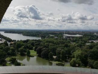 ausblick auf hannover vom rathausturm