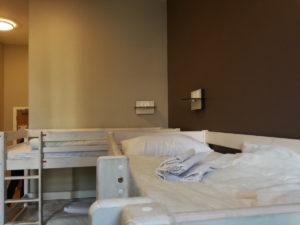 blick aufs bett im wombats london hostel