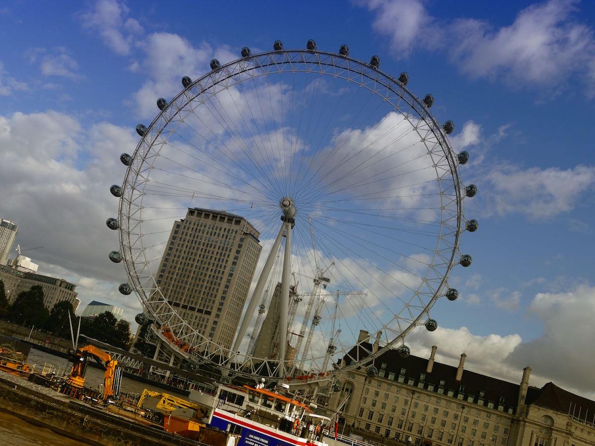 grossansicht des london eye riesenrads