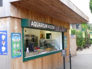kiosk am aquarium im london zoo