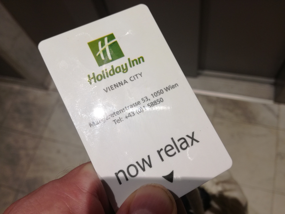 die keycard fürs holiday inn vienna city in wien