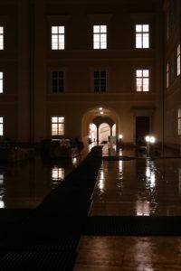 innenhof der universität in salzburg