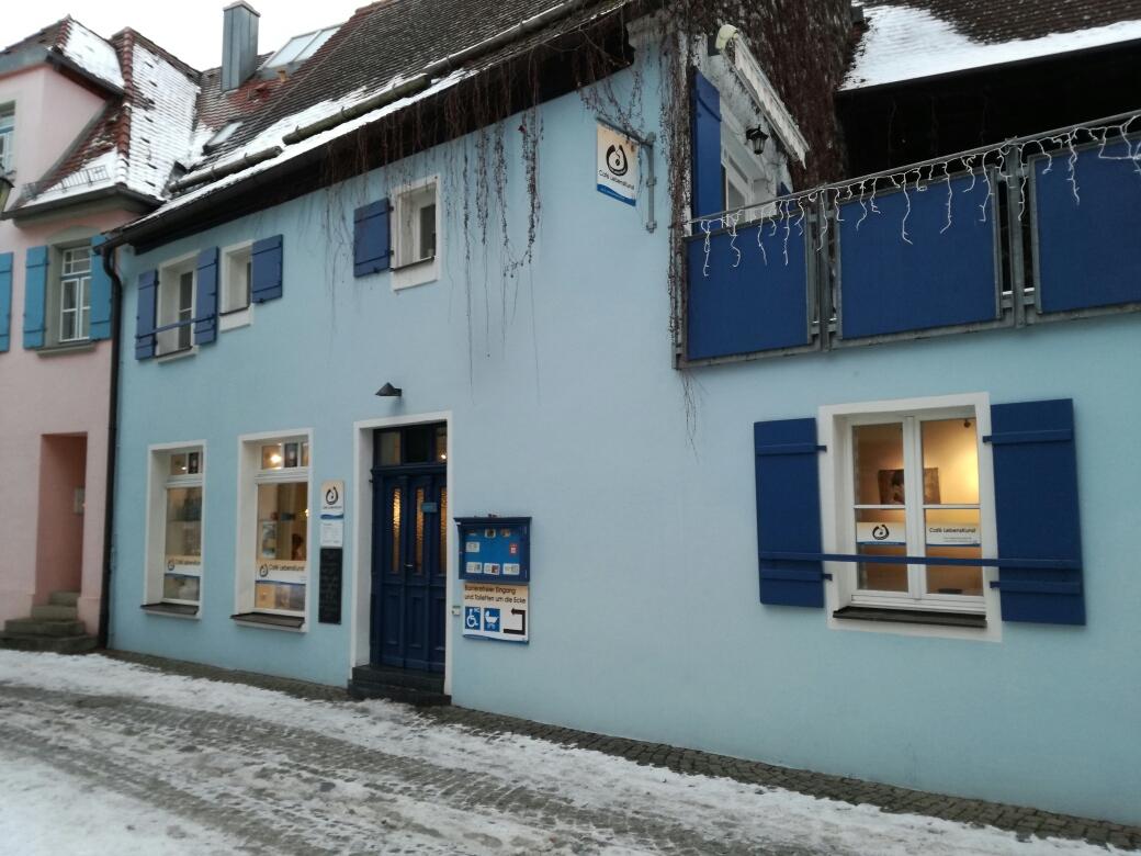 eingang zum cafe lebenskunst in gunzenhausen