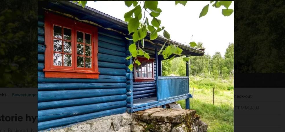 huette im wald in norwegen