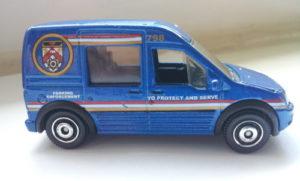 modellauto in blau