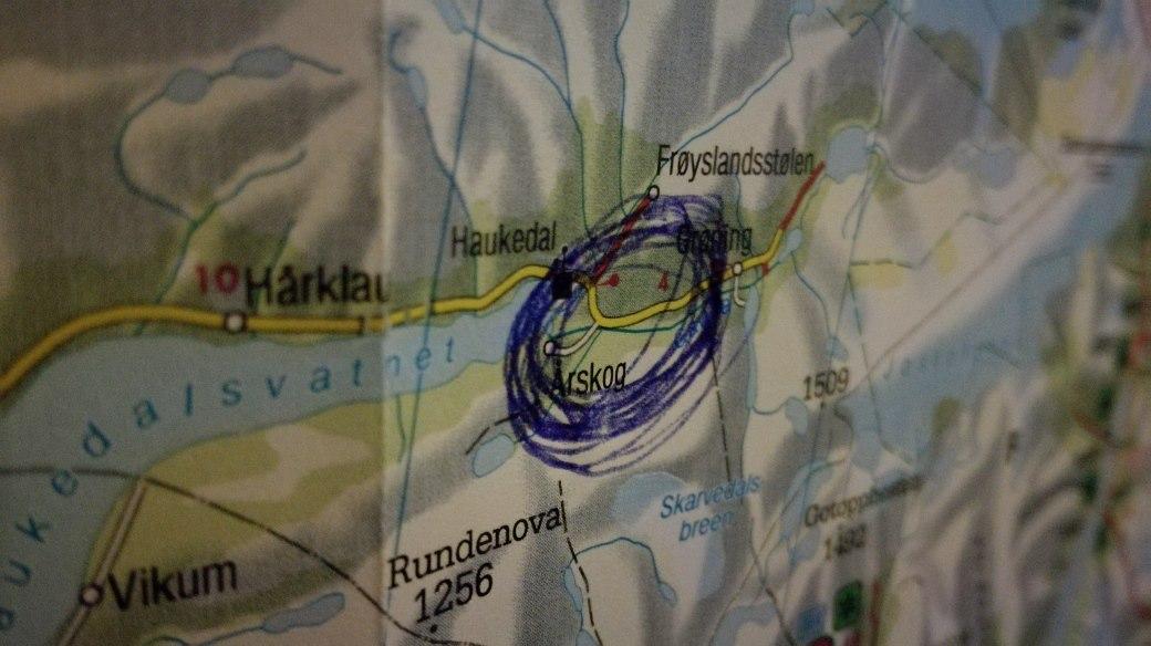 norwegen karte mit markierung