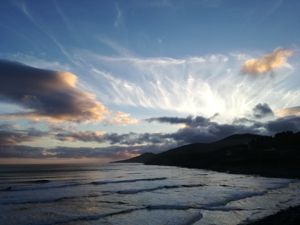 inch beach sonnenuntergang in irland