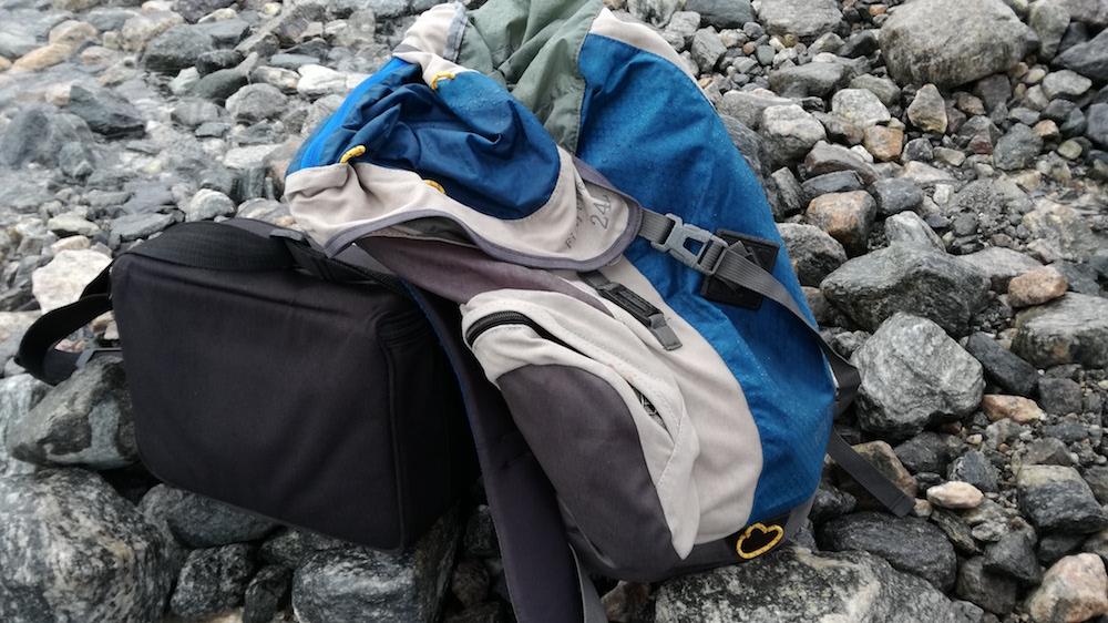 der hiking star wanderrucksack am Gletscher