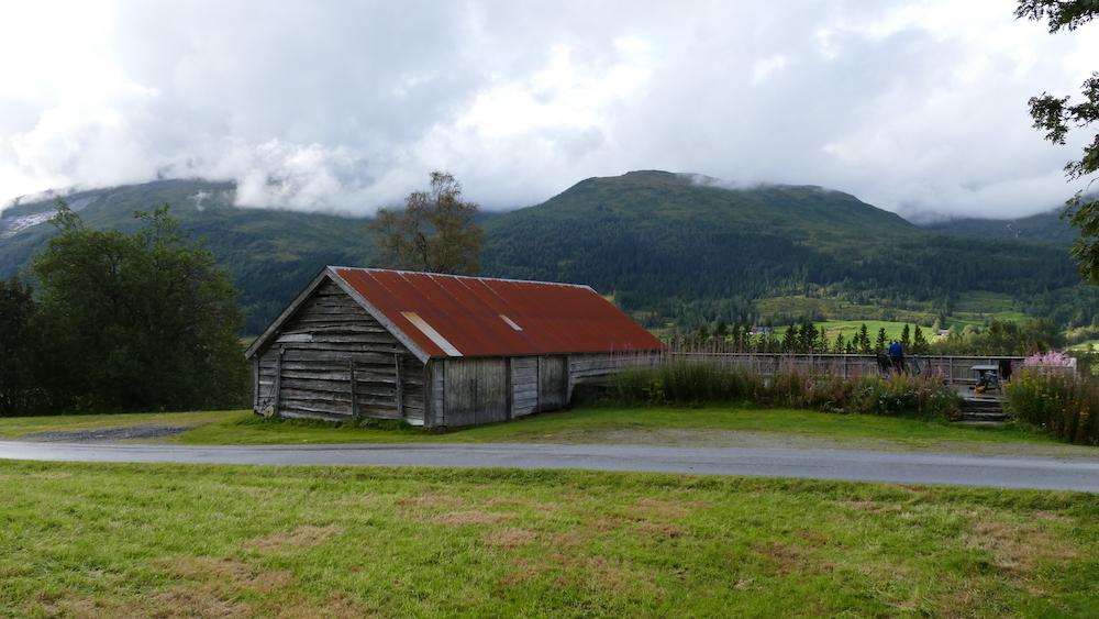 die terrasse vom ferienhaus in norwegen