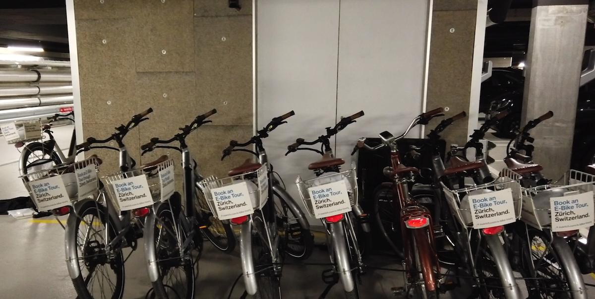 e-bikes für eine tour durch zürich