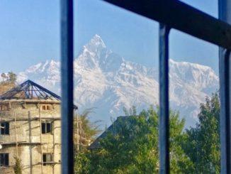 pokhara aussicht auf himalaya